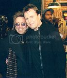 with Colin Quinn on the set of his show
